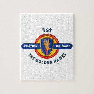 "1ST AVIATION BRIGADE VIETNAM ""GOLDEN HAWKS"" JIGSAW PUZZLE"
