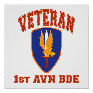 1st Avn Bde College Style Class A Patch Poster