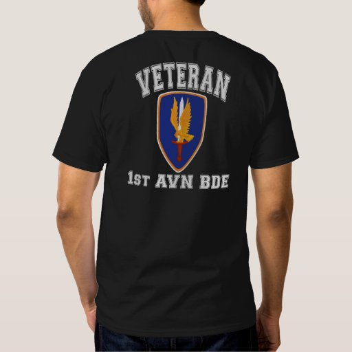 1st Avn Bde College Style, Class A Patch T Shirts