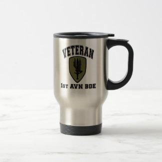 1st Avn Bde College Style, Subdued Travel Mug