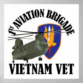 1st AVN BDE Vietnam CH-47 Posters