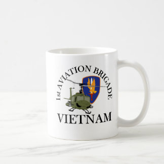 1st Avn Bde Vietnam Vet Huey Classic White Coffee Mug
