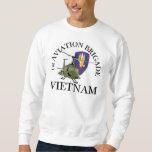 1st Avn Bde Vietnam Vet Huey Pull Over Sweatshirts