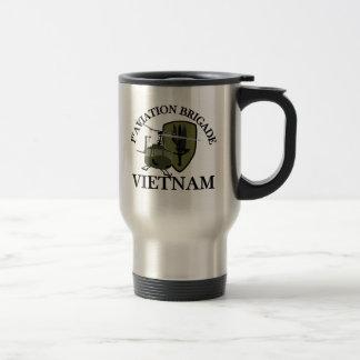 1st AVN BDE Vietnam Vet Huey Travel Mug