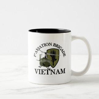 1st AVN BDE Vietnam Vet Huey Two-Tone Coffee Mug