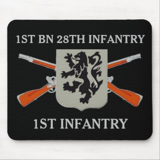 1ST BATTALION 28TH INFANTRY 1ST INFANTRY MOUSEPAD