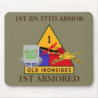 1ST BATTALION 37TH ARMOR 1ST ARMORED MOUSEPAD