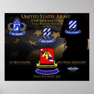 1st Battalion 41st Field Artillery Poster