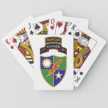 """1st Battalion - 75th Ranger w/Tab Playing Cards<br><div class=""""desc"""">The 75th Ranger Regiment is the U.S. Army&#39;s premier raid force, with specialized skills that enable them to perform a variety of missions. These include direct action, airfield seizure, airborne and air assaults, special reconnaissance, personnel recovery, and high-value target raids. The 75th has been conducting extensive counterterrorism operations throughout the...</div>"""