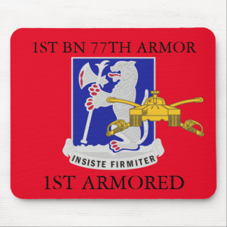 1ST BATTALION 77TH ARMOR 1ST ARMORED MOUSEPAD