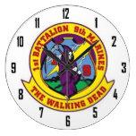 1st BATTALION 8th MARINES      THE WALKING DEAD Clock