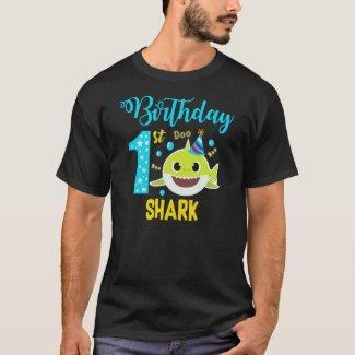 1st birsthday boy Shark Baby T-Shirt