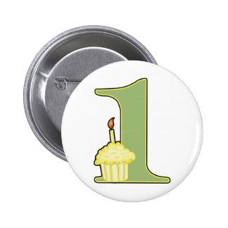 1st Birthday 2 Inch Round Button