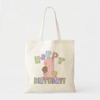 1st Birthday African American Girl Tote Bag