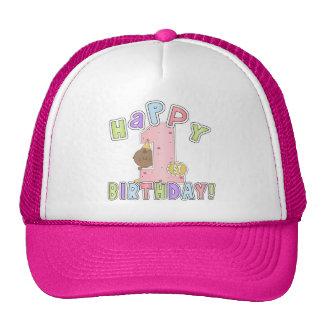 1st Birthday African American Girl Trucker Hat