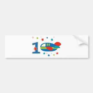 1st Birthday Airplane Bumper Sticker