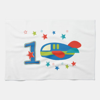 1st Birthday Airplane Hand Towels