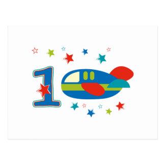 1st Birthday Airplane Postcards
