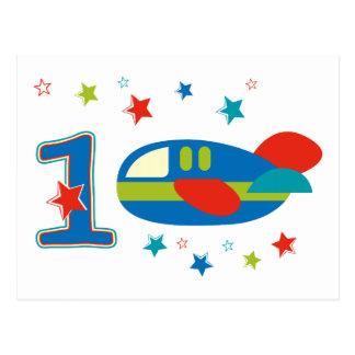 1st Birthday Airplane Postcard