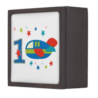 1st Birthday Airplane Premium Jewelry Boxes