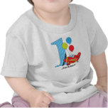 1st Birthday Airplane Red/Blue T Shirts