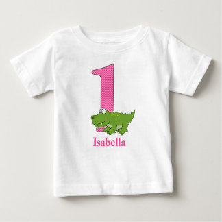 1st Birthday Alligator T shirt