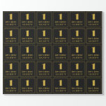 """[ Thumbnail: 1st Birthday ~ Art Deco Inspired Look """"1"""", Name Wrapping Paper ]"""