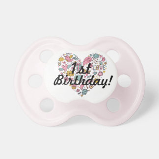 1st Birthday Baby Girl Pacifier