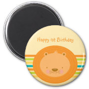 1st Birthday Baby Lion Magnet magnet