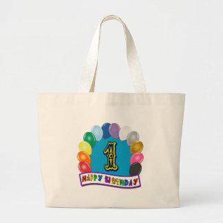 1st Birthday Bag with Assorted Balloons Tote Bag