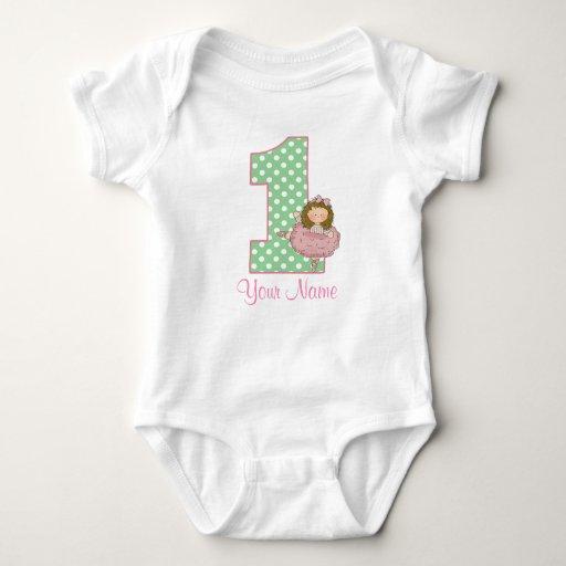1st Birthday Ballet Personalized Shirt