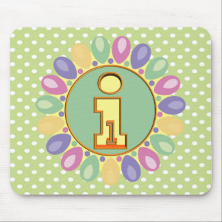 1st Birthday Balloons Mouse Pad