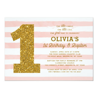White Gold Baptism Invitations Announcements Zazzle
