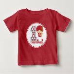 1st Birthday Baseball Batter Red and White T-shirts
