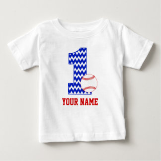1st Birthday Baseball Personalized T-shirt