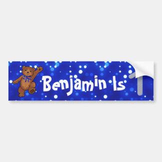 1st Birthday Bear Bumper Sticker