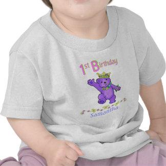 1st Birthday Bear Princess Custom Name T-shirt