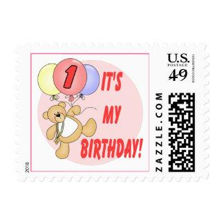 1st Birthday Bears Birthday Stamp