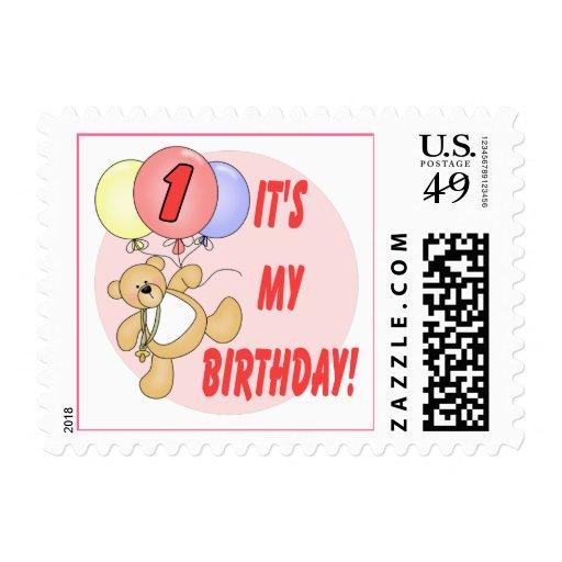 1st Birthday Bears Birthday Stamps