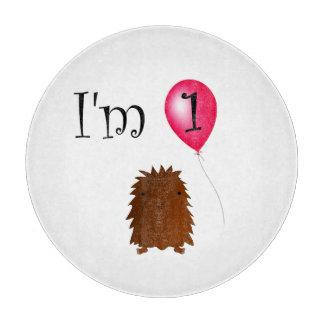 1st Birthday bigfoot red balloon Cutting Board