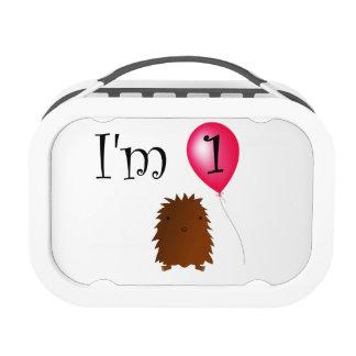 1st Birthday bigfoot red balloon Lunchbox