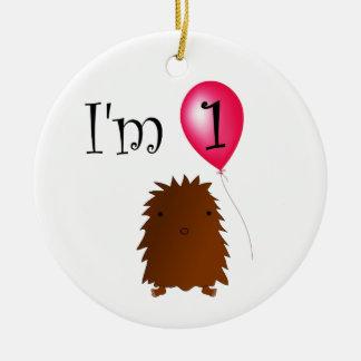 1st Birthday bigfoot red balloon Christmas Tree Ornaments