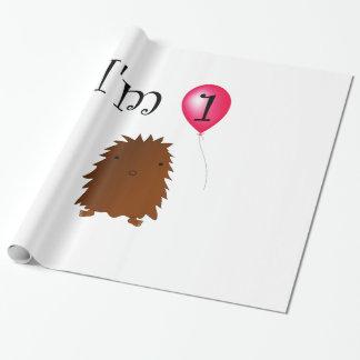 1st Birthday bigfoot red balloon Gift Wrap Paper