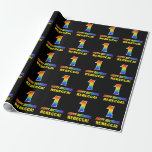 [ Thumbnail: 1st Birthday: Bold, Fun, Simple, Rainbow 1 Wrapping Paper ]