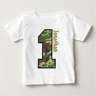 1st Birthday Boy Camo One Year Custom Name V007A T-shirts