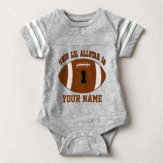 1st Birthday Boy Football Personalized T-shirt
