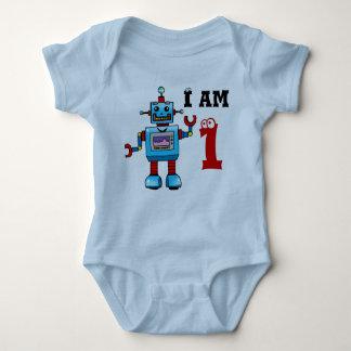 1st birthday boy gift - robot baby bodysuit