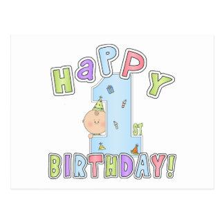 1st Birthday Boy Post Card