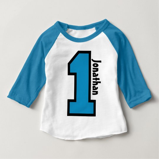1st Birthday Boy Sports Number One Year V007A