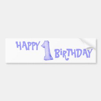 1st Birthday Bumper Sticker